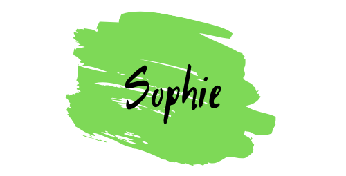 White with Aqua Brush Stroke Personal Logo